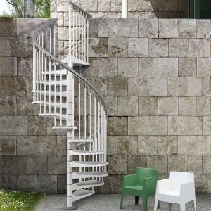 Attractive Enduro Steel Outdoor Spiral Staircase Kit · Eureka_exterior