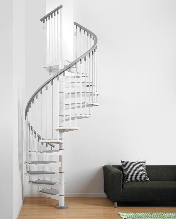 Eureka Spiral Staircase Metal Steel And Wood Spiral Staircase Fontanot