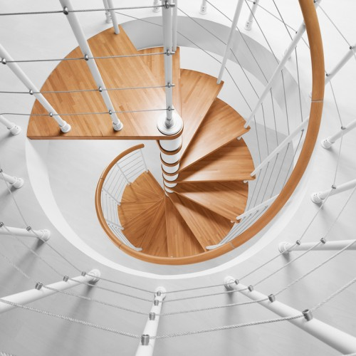 Genius Spiral Stairs Metal Steel And Wood Spiral