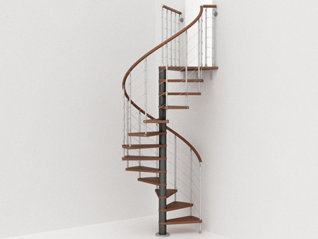 genius spiral stairs metal steel and wood spiral. Black Bedroom Furniture Sets. Home Design Ideas