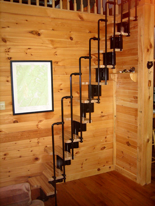 Wooden Loft Ladder Kit Home Decor Staircases For Tight Es Attic And Stairs How To Build Retractable Small Railing Pieces Of The Cm Bygel Rail