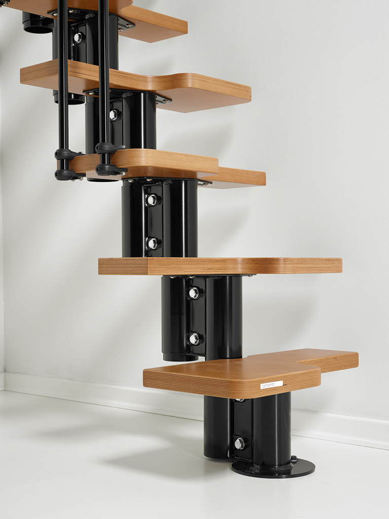 Picture of: Nice 2 Metal Steel And Wood Spiral Staircase Fontanot