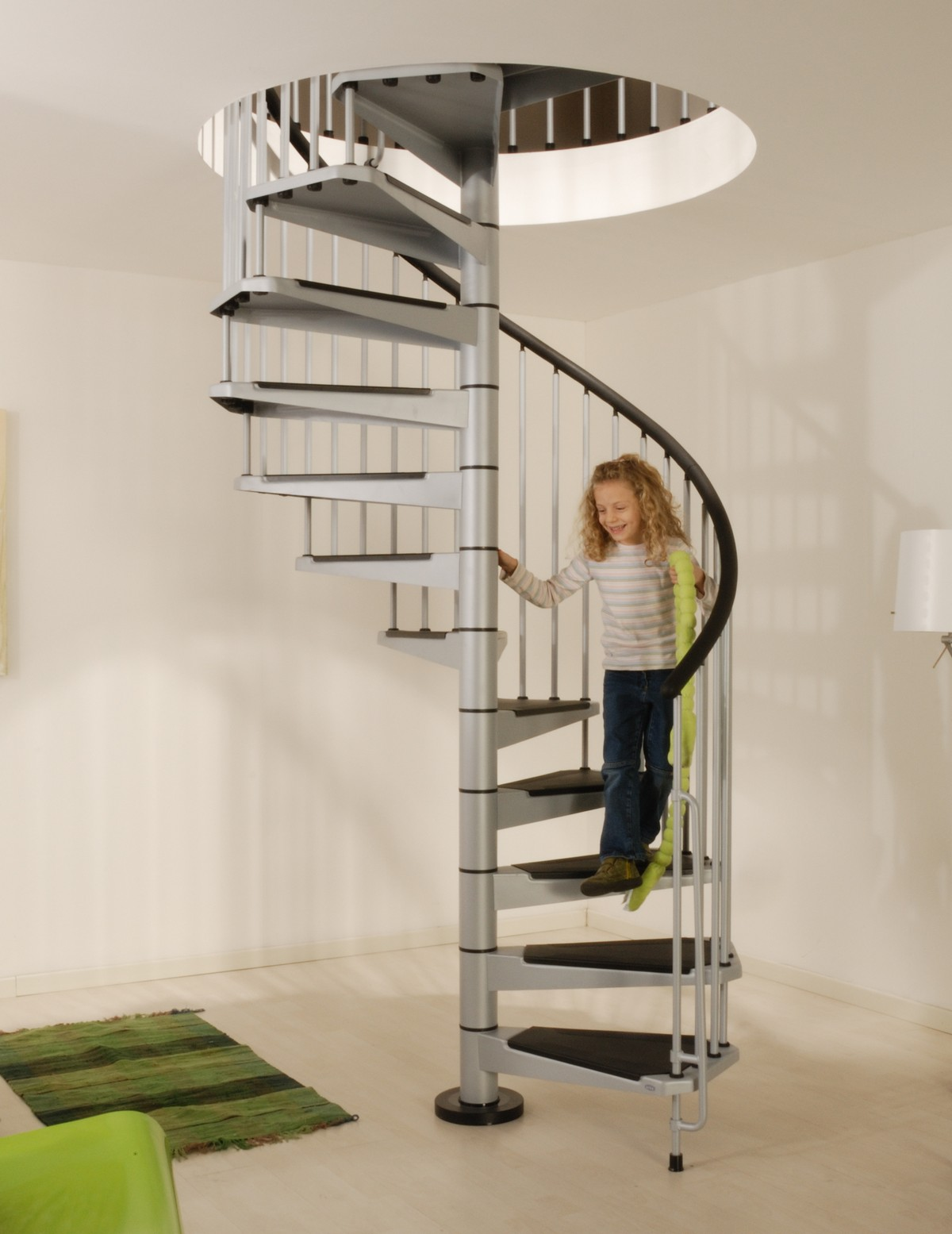 Civik spiral staircase kit metal steel and wood spiral for Spiral stair design