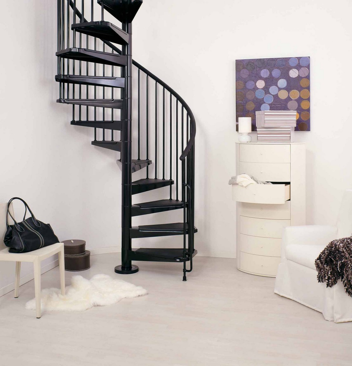 Civik spiral staircase kit metal steel and wood spiral for Spiral staircase blueprint