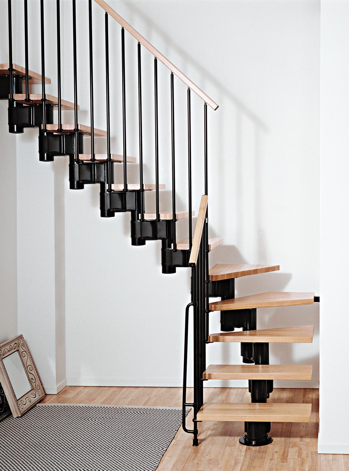 Kompact Adjustable Staircase Kit   Metal, Steel And Wood Spiral Staircase    Fontanot