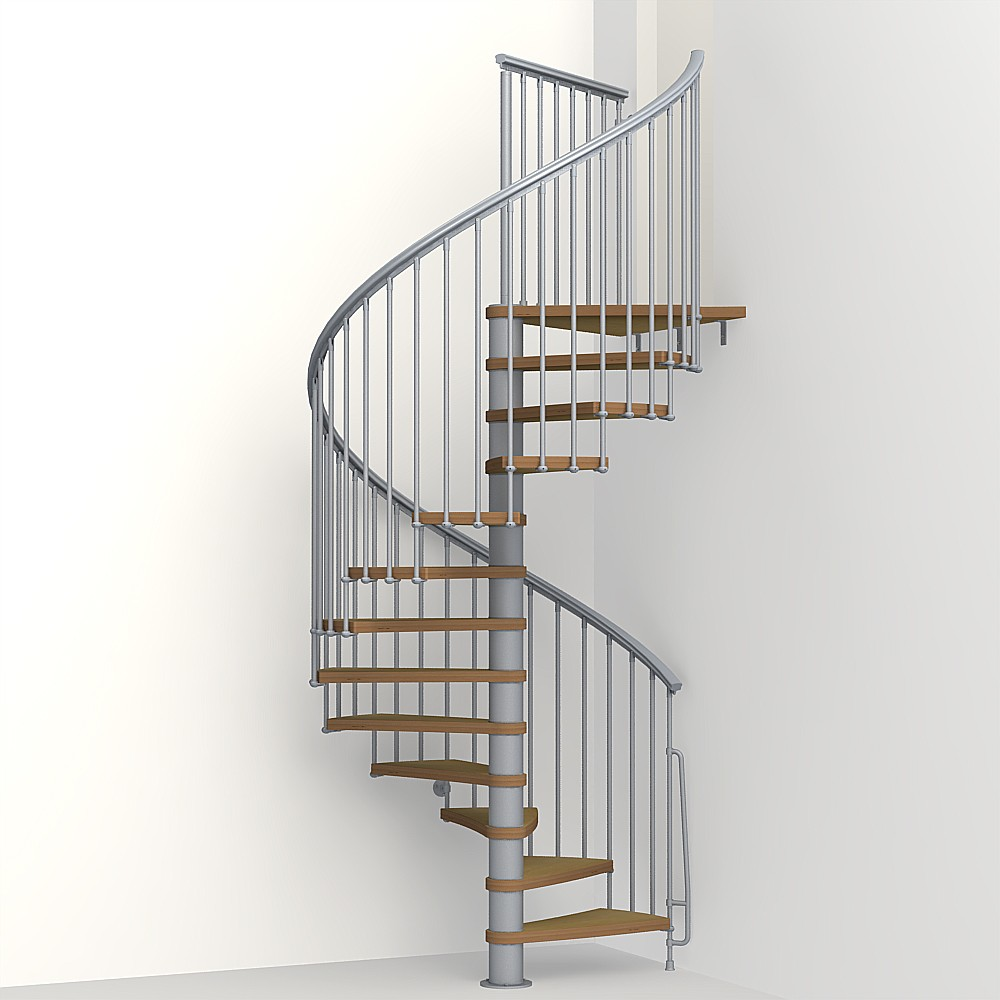 Nice 1 metal steel and wood spiral staircase fontanot for A perfect 10 nail salon rapid city