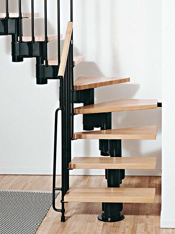 kompact adjustable staircase kit metal steel and wood spiral staircase fontanot. Black Bedroom Furniture Sets. Home Design Ideas