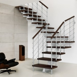 staircase kit metal steel and wood spiral staircase fontanot