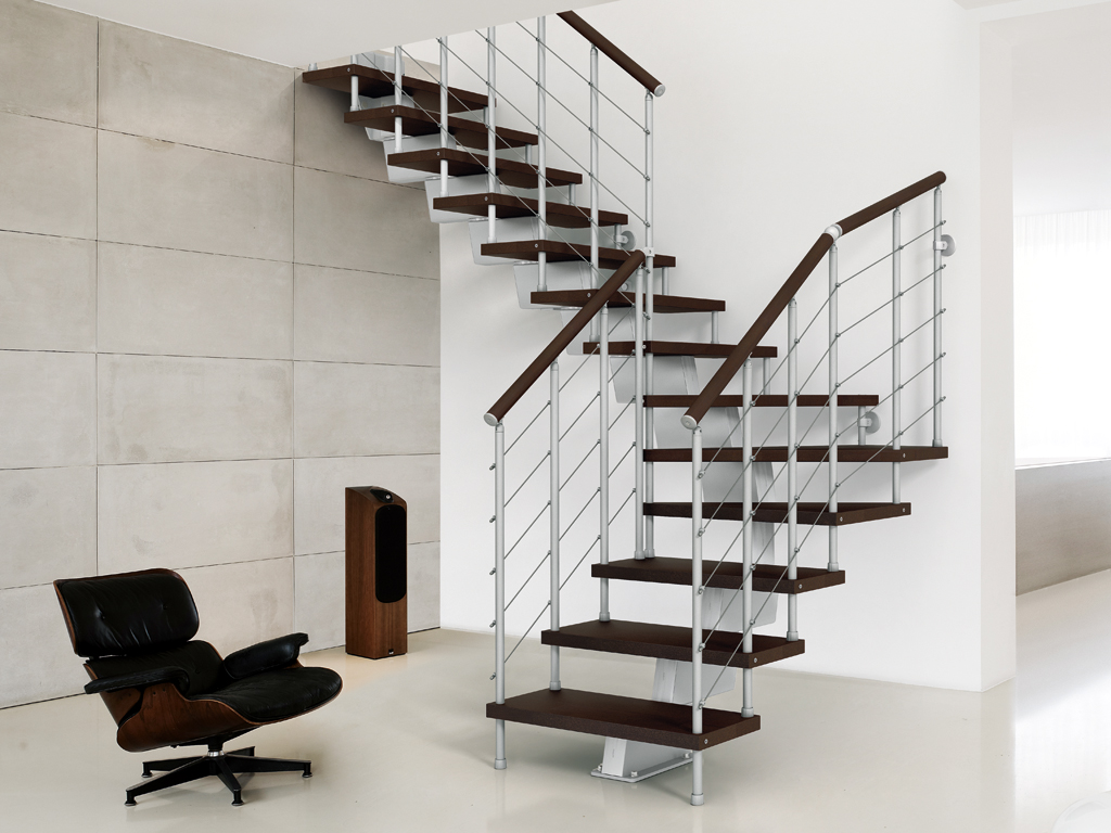 genius modular stairs metal steel and wood spiral staircase fontanot. Black Bedroom Furniture Sets. Home Design Ideas
