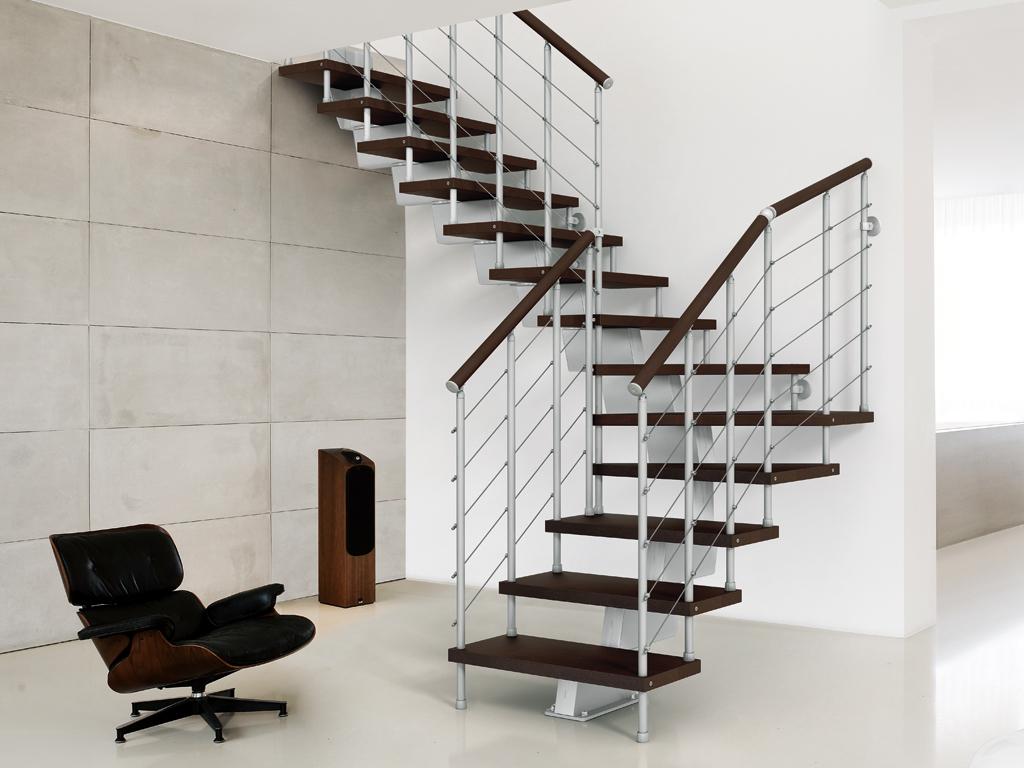 Genius Modular Stairs Metal Steel And Wood Spiral