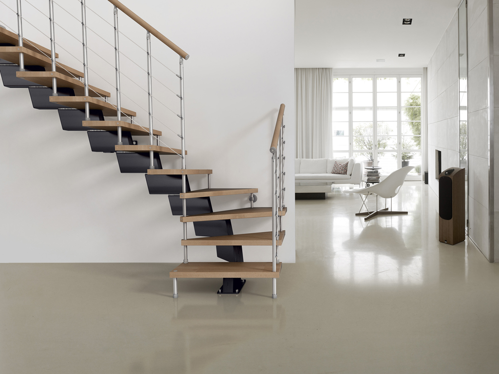 Genius Modular Stairs   Metal, Steel And Wood Spiral Staircase   Fontanot