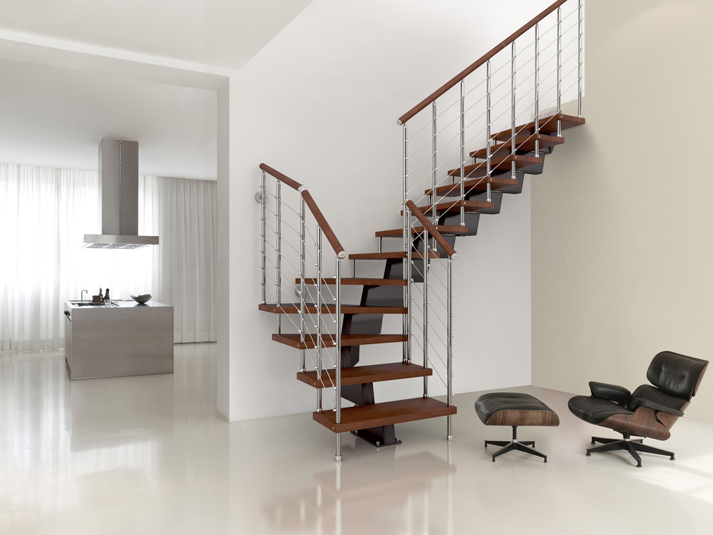 Superieur Genius Modular Stairs   Metal, Steel And Wood Spiral Staircase   Fontanot